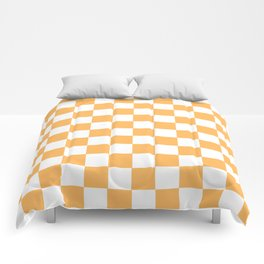Honey aesthetic Checkerboard Pattern Comforters