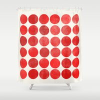 waldo Shower Curtains featuring colorplay 12 by Garima Dhawan