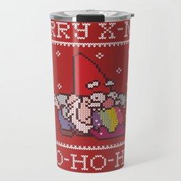 Happy and colorful Christmas with Santa Claus Travel Mug