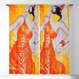 Spain Vintage Travel Ad Blackout Curtain