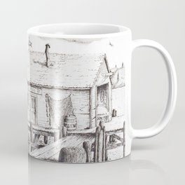 Abstract Imagery, Mr. Skull, & 'Old Man Willow's Wharf ' Coffee Mug