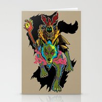 warcraft Stationery Cards featuring Druid by Electra Vasiliadi