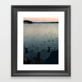 Sunrise Over the Sea Abstract Framed Art Print
