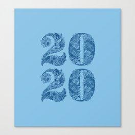 Happy Floral 2020 Classic Blue Canvas Print