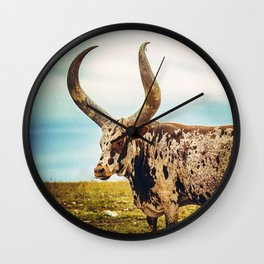 The Texas Longhorn Wall Clock