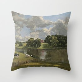 John Constable Wivenhoe Park, Essex 1816 Painting Throw Pillow