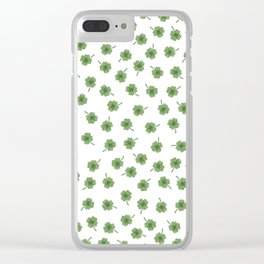 Light Green Clover Clear iPhone Case
