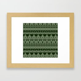 Stripes Mandala 9 Framed Art Print