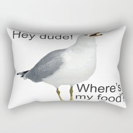 Seagull hey dude where's my food Rectangular Pillow