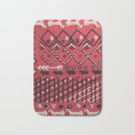 V22 Sheep herd Design Traditional Moroccan Carpet Texture. Bath Mat