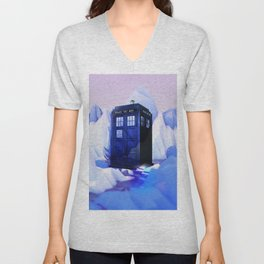 TARDIS SNOW Unisex V-Neck