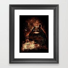 babysittotoro Framed Art Print
