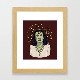 Star Goddess Framed Art Print