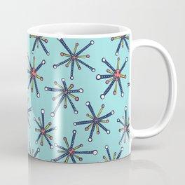 Viruses Resembling Molecules - Retro Modern Microbiology Pattern Coffee Mug