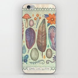 Ingredients of the secret forest iPhone Skin