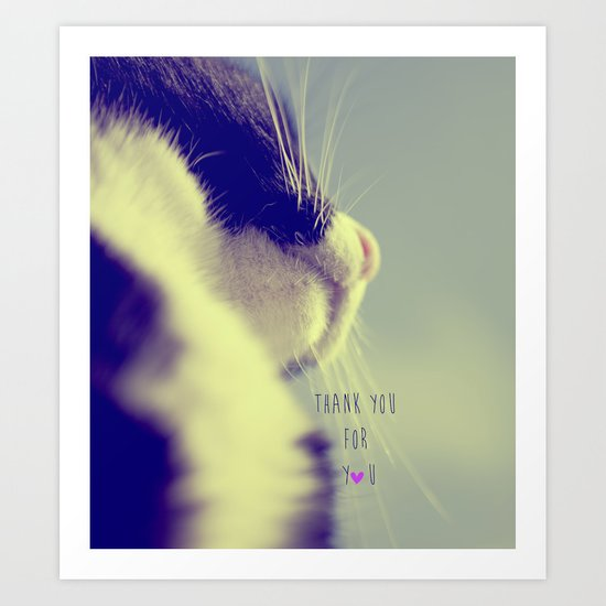 thank you for you Art Print