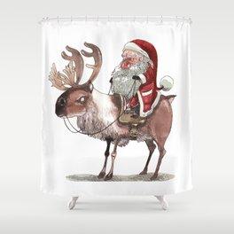 Père Noël Énervé / Angry Santa Shower Curtain