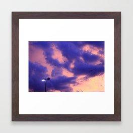 clouds(flying) Framed Art Print
