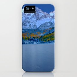 Maroon Bells at Dawn iPhone Case