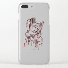 Kitsune Portrait Clear iPhone Case