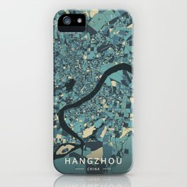 Hangzhou, China - Cream Blue iPhone Case