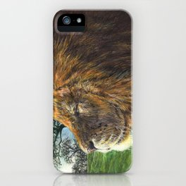 In My Element - Male African Lion iPhone Case