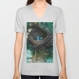 Robins Nest Unisex V-Neck