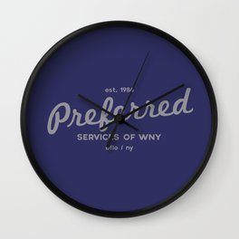 Preferred Services of WNY in Gray Wall Clock