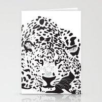 leopard Stationery Cards featuring Leopard  by Karen Hischak