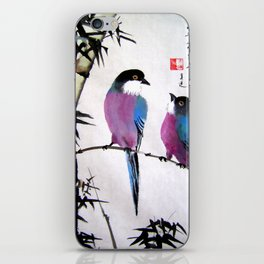 blue bird iPhone Skin