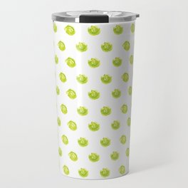 Lime Green Polka Dots Travel Mug