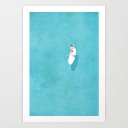 Paddle Board Print Art Print