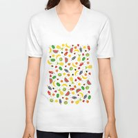 fruits V-neck T-shirts featuring Fruits by Ananá