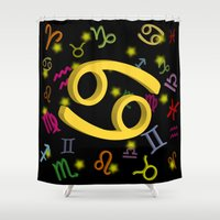 cancer Shower Curtains featuring Cancer by The Image Zone