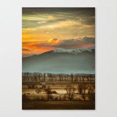 Sunset field II Canvas Print