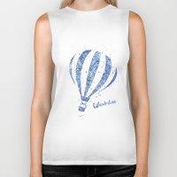 hot air balloon Biker Tanks featuring Hot Air Balloon by Carma Zoe