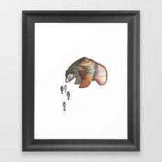 Bear Investigations Framed Art Print