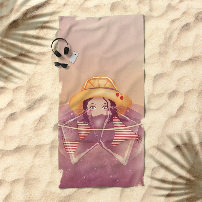 Summer Drink Beach Towel