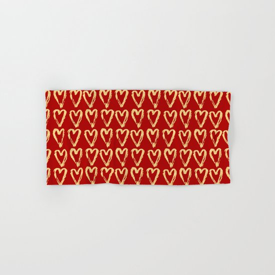 Hearts Of Gold Hand & Bath Towel