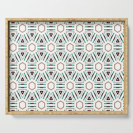 Turquoise geo 3 Serving Tray