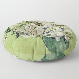 Vase of Roses by Vincent Van Gogh Floor Pillow