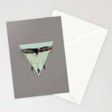 The indian eagle is watching over Po's dreamcatcher Stationery Cards