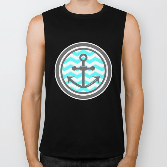 Chevron Anchor Biker Tank