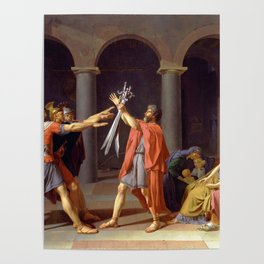 Oath of the Horatii by Jacques-Louis David Poster