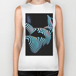 5143s-MAK Zebra Stripe Curves Sensual Female Body Art Biker Tank