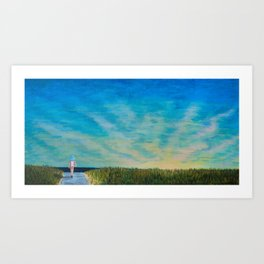 Walking to the Beach Art Print