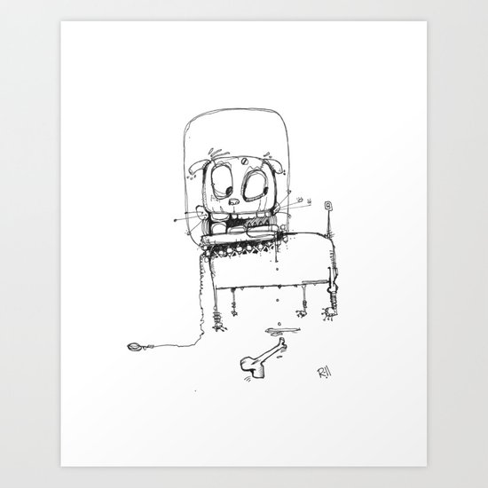 Spacedog Art Print