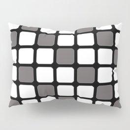 BLACK GREY AND WHITE RECTANGLE TILE  {BASIcs JHD} Pillow Sham