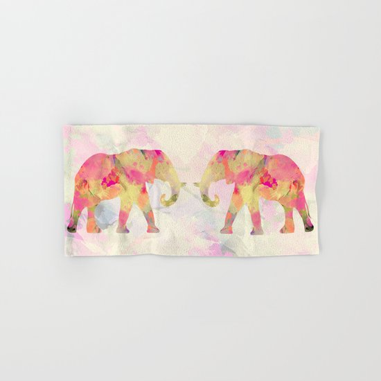 Abstract Elephant II Hand & Bath Towel