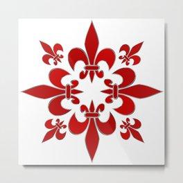 Fleur de Lis pattern Metal Print